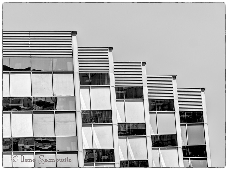 6-5-13 A high contrast small reflection in the skyscraper in Bellevue.