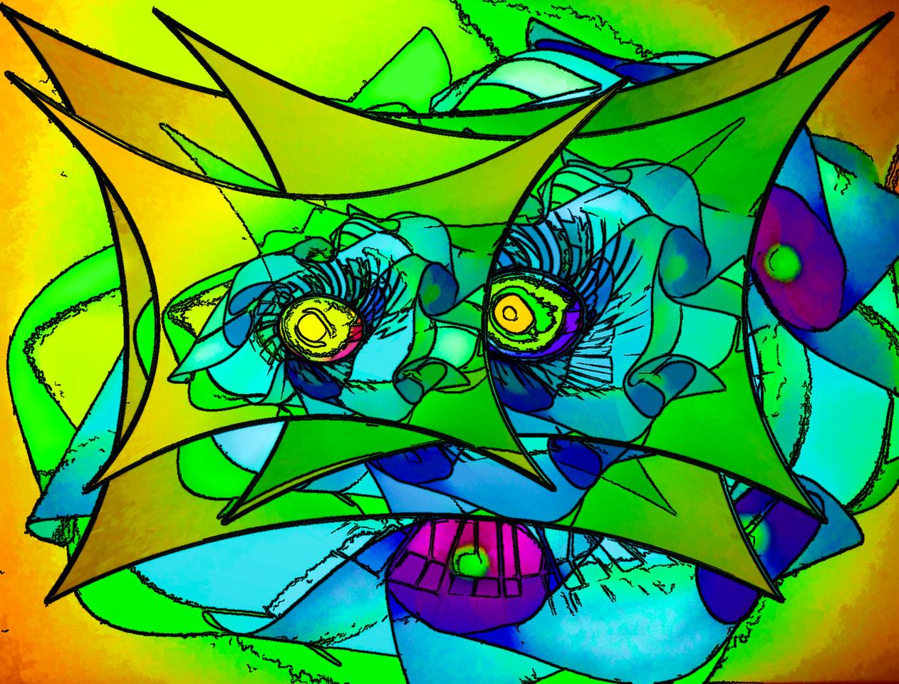 Paper Flower on Glass SQ sq-2