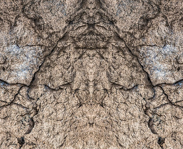 Abstract, mirrored image of stone
