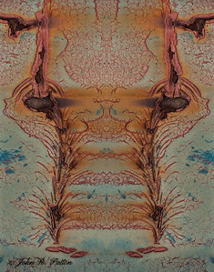 Abstract, mirrored rust