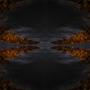 Abstract, mirrored image