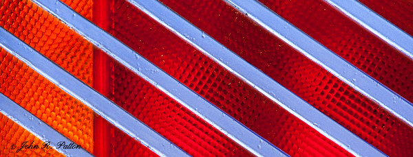 Silver blue stripes on red