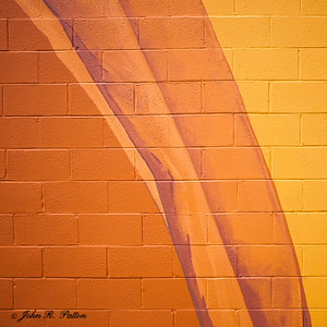 Yellow orange wall