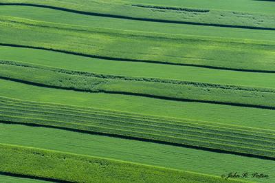 Farm fields aerial