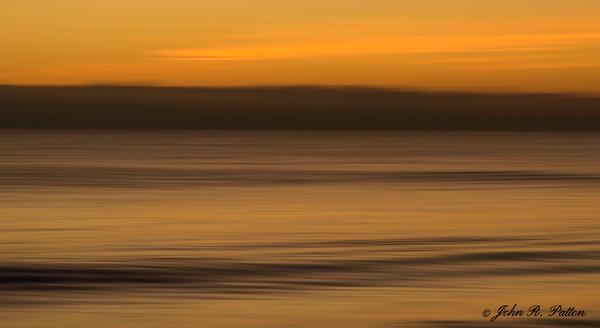 Atlantic Ocean waves at dawn. Vero Beach. Florida. Intentional Camera Movement. Horizontal pan blur. JPat_191204__D814112