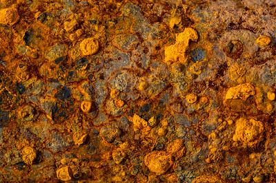 Rusty metal.