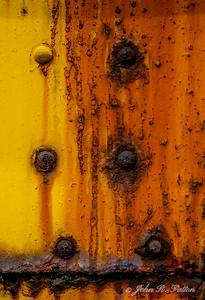 Rust on rail car