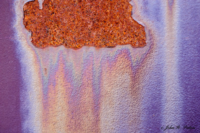 Rust and stains on dumpster