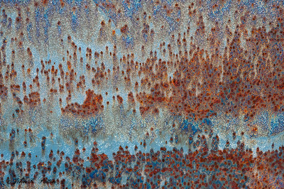 Abstract, rust on metal