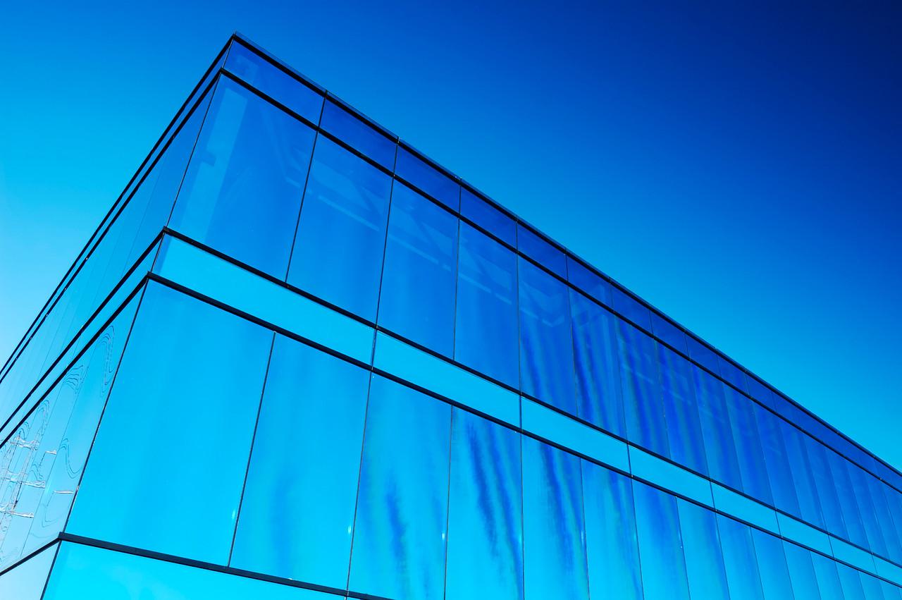 Blue office block