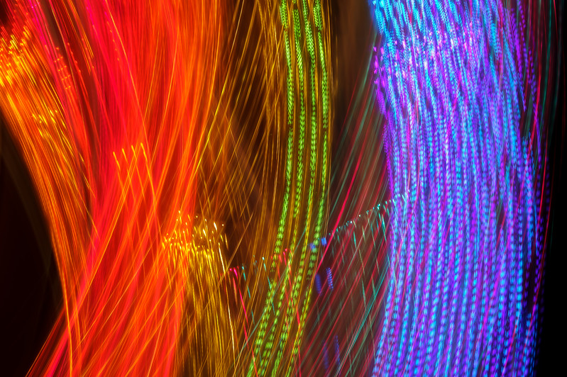 Abstract of carnival lights at night, Key West, Florida