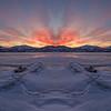 Skaha Epic Winter Sunset MIrrored