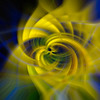 Blue & Yellow Abstraction