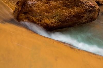Ochre Rocks and Green Waters