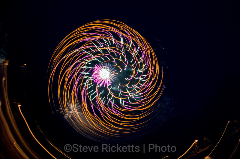 Fireworks abstract