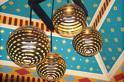 Hotel Monaco lobby ceiling