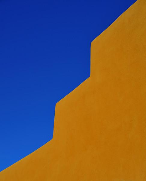 Adobe Wall and Sky, Santa Fe, New Mexico