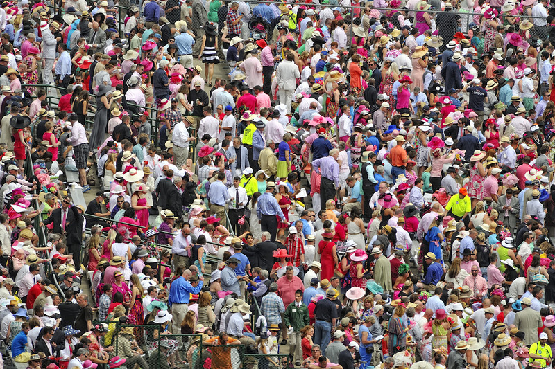 Crowd At Churchill Downs, Louisville, Kentucky