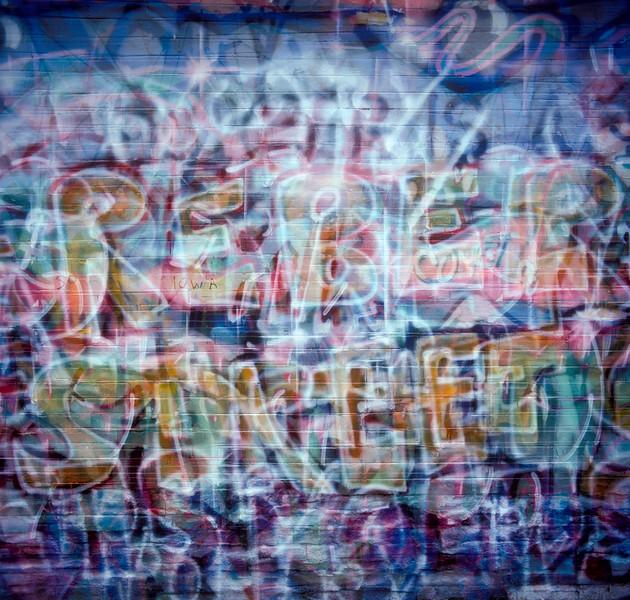 Graffiti, Seattle, Washington, 1991