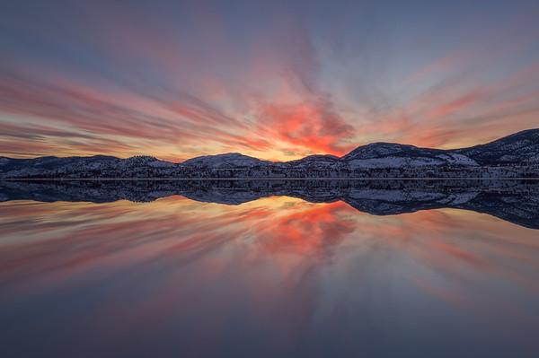 Skaha Epic Winter Sunset Mirror