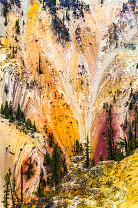 Cliffs Embraced With Color