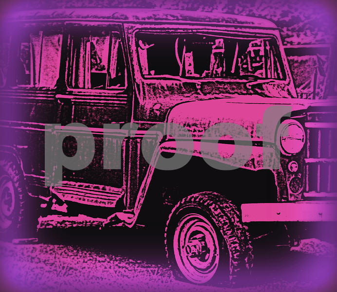 Psychedelic Land Rover copyrt 2014 m burgess