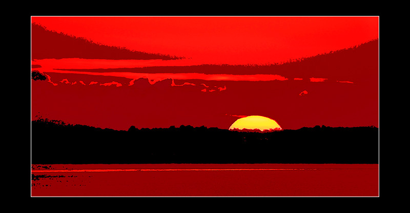 East Haven sunrise<br /> posterized<br /> Looking from West Haven, CT
