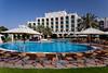 The pool area of The Al Ain Rotana Resort in Abu Dhabi Emirate, UAE.