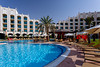 The pool area of The Al Ain Rotana Resort in Abu Dhabi Emirate, UAE.