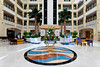 Interior lobby of The Al Ain Rotana Resort in Abu Dhabi Emirate, UAE.