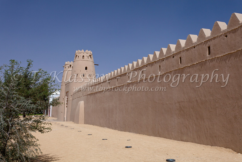 The Al Jahili Fort in Al Ain, United Arab Emirates, Middle East.