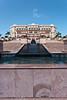 The exterior of The Emirates Palace Hotel in Abu Dhabi, UAE.