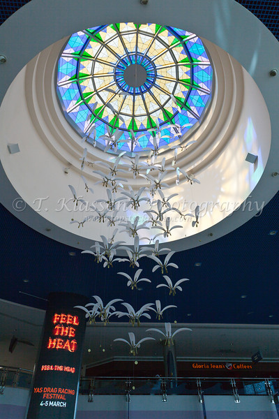 Interior decor and architecture of the Marina Mall in Abu Dhabi, UAE.