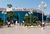 Shoppers entering the Marina Mall in Abu Dhabi, UAE.