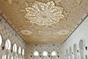 Interior architecture with ceiling design in the Sheikh Zayed Grand Mosque in Abu Dhabi, UAE.