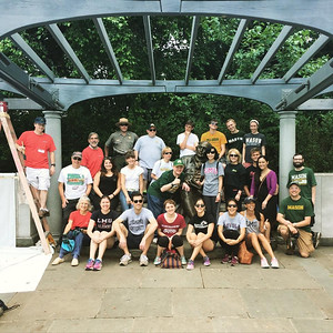 CHSS Alumni Chapter partnering with other volunteers at George Mason Memorial on June 6, 2015
