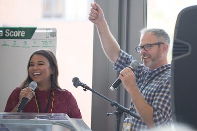 WUSA 9 Reporter and Mason Alumna, Marcella Robertson, with Caboose co-owner an Mason Alumnus Matt Greer.