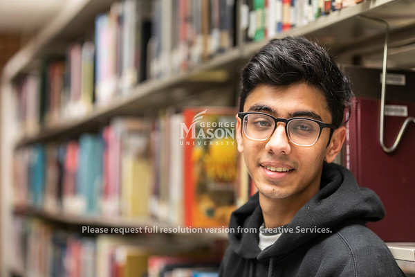 George Mason University freshman Raheel Tauyyab. Photo by Lathan Goumas/Strategic Communications