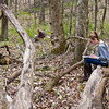 Freshmen Cornerstones students take part in field trip to Mason's Environmental Studies on the Piedmont, where they observed nature and took field notes on their observations.  Photo by Craig Bisacre/Creative Services/George Mason University