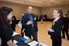 Students of Mason's Schar School of Policy and Government and The School for Conflict Analysis and Resolution attend a Career and Internship Fair at Mason's Arlington Campus. Photo by Alexis Glenn/Creative Services/George Mason University