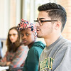 Steve Pearlstein's class pairs students with people outside the university who do not necessarily share their political views. The students must talk with these people every week to gauge how they are processing the presidential debate.  Photo by:  Ron Aira/Creative Services/George Mason University