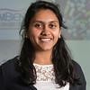 Chinmayee Balabhadrapatru, LLC Honors College Researcher Portrait. Balabhadrapatru's research explored the affect of drug portrayal in mass media. Photo by Alexis Glenn/Creative Services/George Mason University