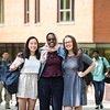 Khue-Tu Nguyen, Asha Athman, and Beverly Harp landed prestigious scholarships that will carry them overseas to further study a language while serving as American cultural ambassadors.  Photo by:  Ron Aira/Creative Services/George Mason University