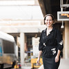 Sarah Federman, PhD Conflict Analysis and Resolution '16, pictured here at Union Station in Washington, DC, is among a group of 24 writers selected for the Amtrak Residency program and as such will have a free pass and a workspace on Amtrak trains for a year. For her residency, she's traveling along the Oregon Trail, from Chicago to San Francisco, starting this spring.  Photo by Ron Aira/Creative Services/George Mason University