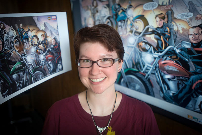 Mason student Elizabeth Bass, Fenwick Library employee, wins Comic Book Contest.