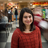 Khushboo Bhatia, LLC Honors College Researcher Portrait. Bhatia's research studied how global food corporations should adapt products based on local cultures. Photo by Alexis Glenn/Creative Services/George Mason University