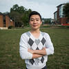 Zhichao (Frank) Cong, undergraduate and China 1+2+1 student at Fairfax campus. Photo by Alexis Glenn/Creative Services/George Mason University