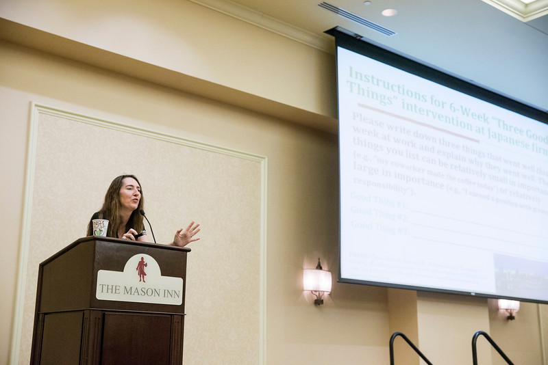MasonLeads and the Center for the Advancement of Well-Being host the 2014 Leading to Well-Being Conference: Thriving Together at the Mason Inn. Photo by Craig Bisacre/Creative Services/George Mason University