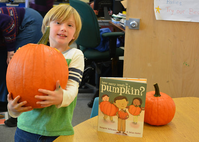 1st Grade Investigates How Many Seeds in a Pumpkin