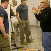 Students working in art studios. <br /> Professor: David Carbone<br /> Photographer: P. Scott Barrow